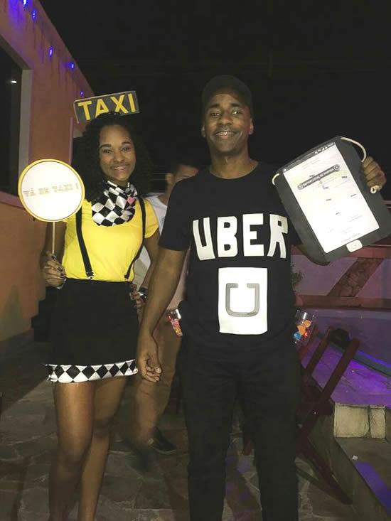 Fantasia de Táxi para Carnaval