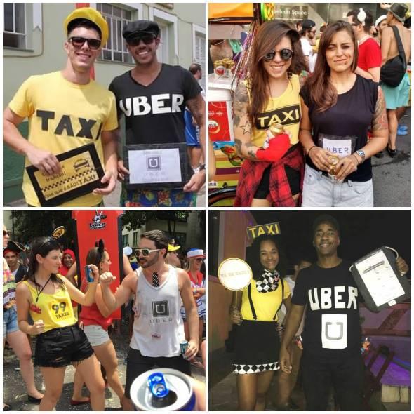 Fantasia de Táxi e Uber para Carnaval