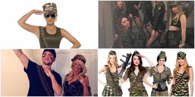 Fantasia Militar para Carnaval