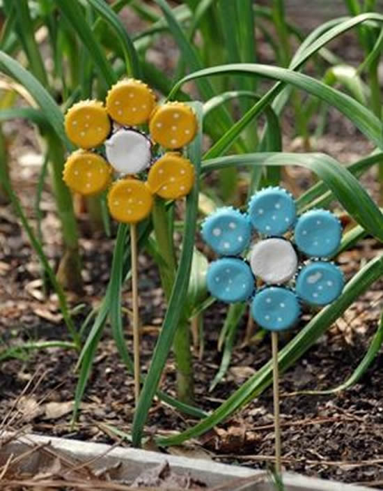 Inspirações com Reciclagem para Decorar Jardim