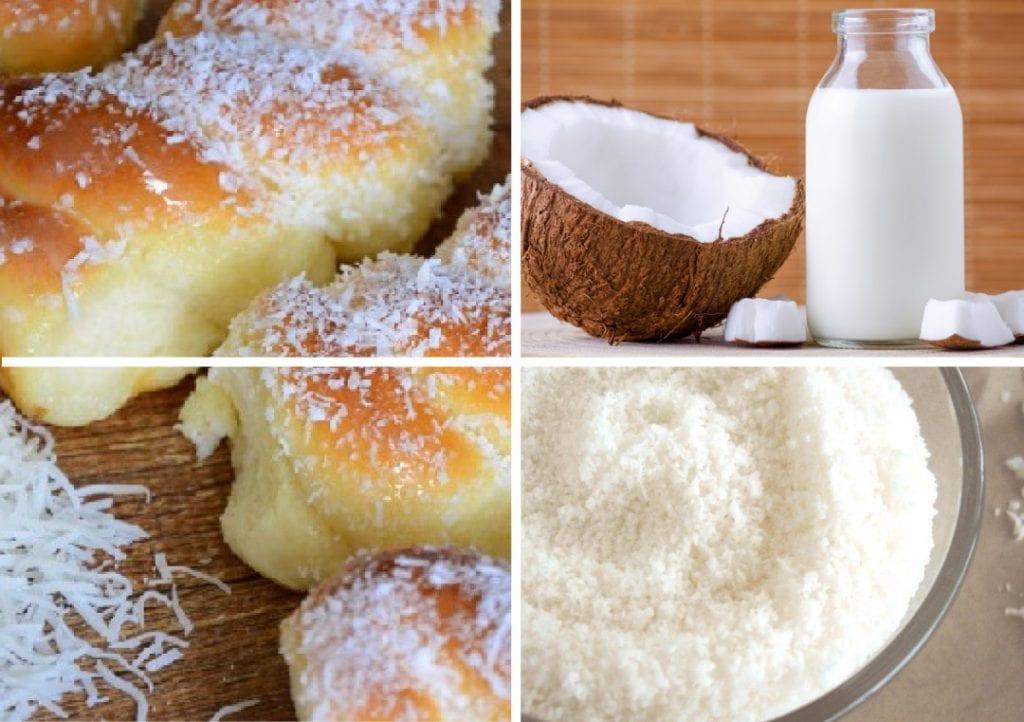 pão de leite de coco