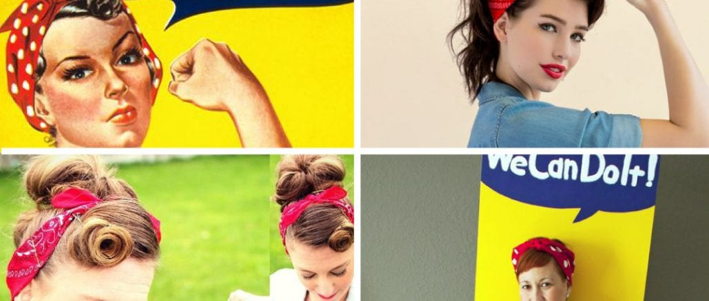 rosie the riveter fantasia we can do it para o carnaval