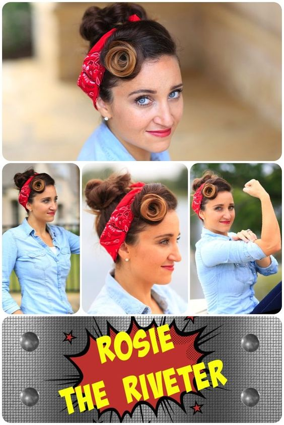 rosie the riveter hair style fantasia we can do it rosie the riveter para o carnaval 2061 | rosie the riveter fantasia we can do it para o carnaval 19