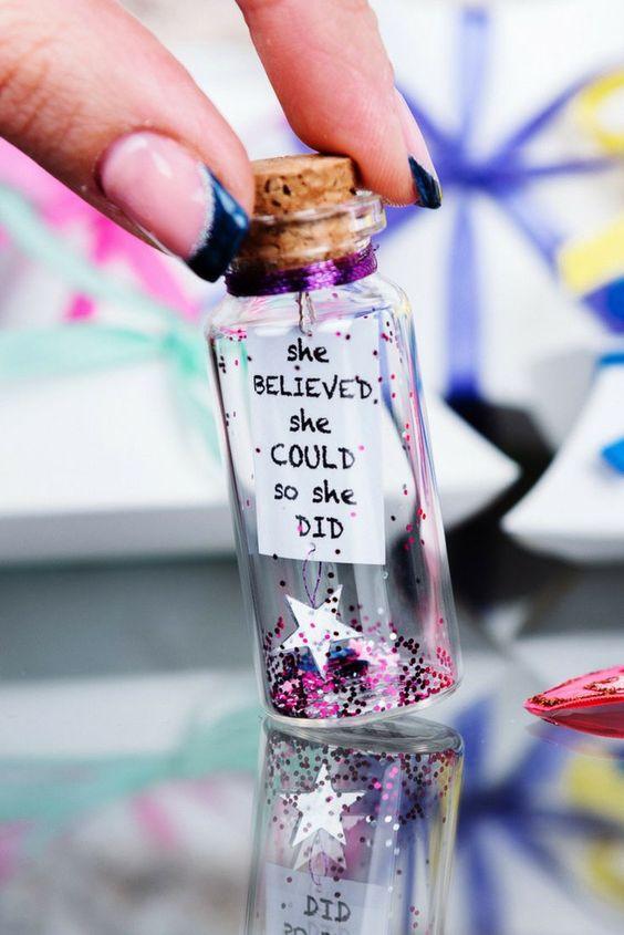 lembrancinha mensagem na garrafa