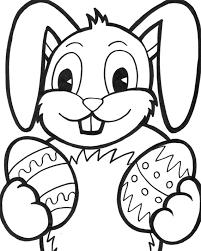 Coelhinhos da páscoa para colorir a