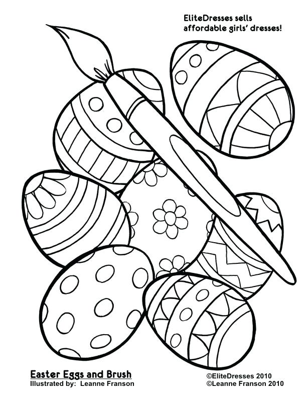 pincel de pintura e ovos de páscoa