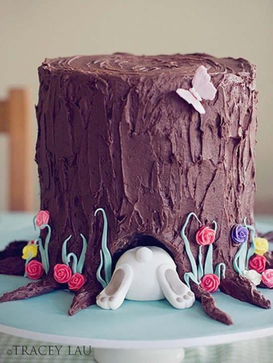 Bolo de Chocolate Criativo para Páscoa