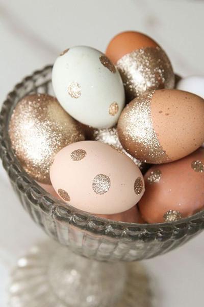 ovos de páscoa com glitter