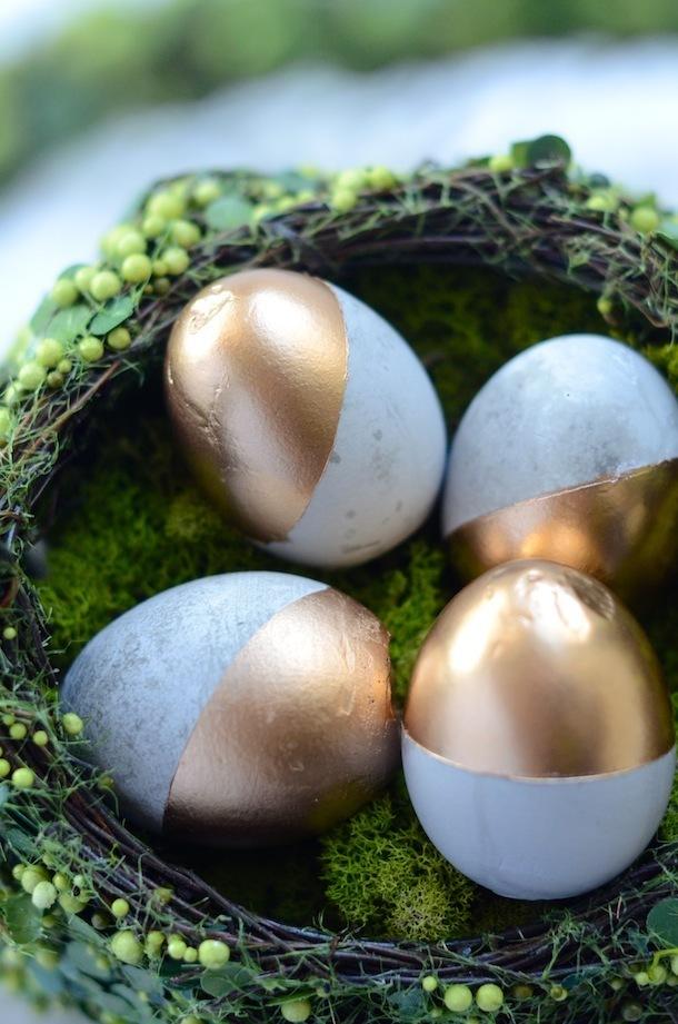decoração com ovos de páscoa