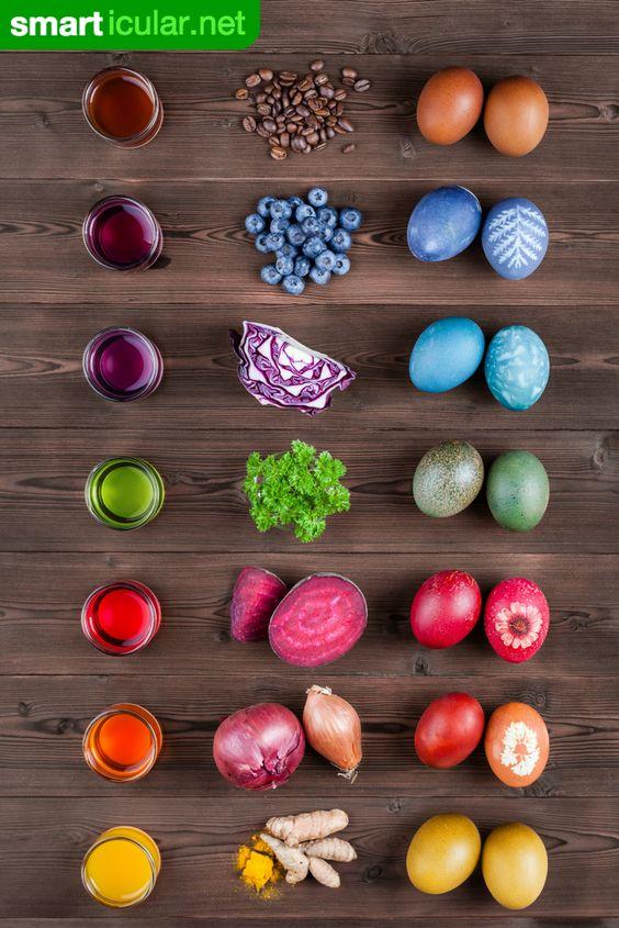 corantes naturais para pintura de ovos