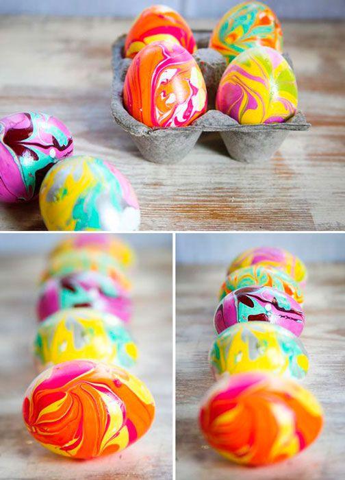 ovos de galinha marmorizados
