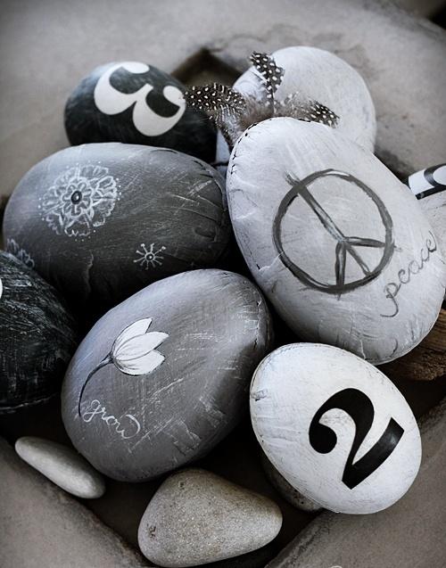 decoração com ovos de páscoa de cimento