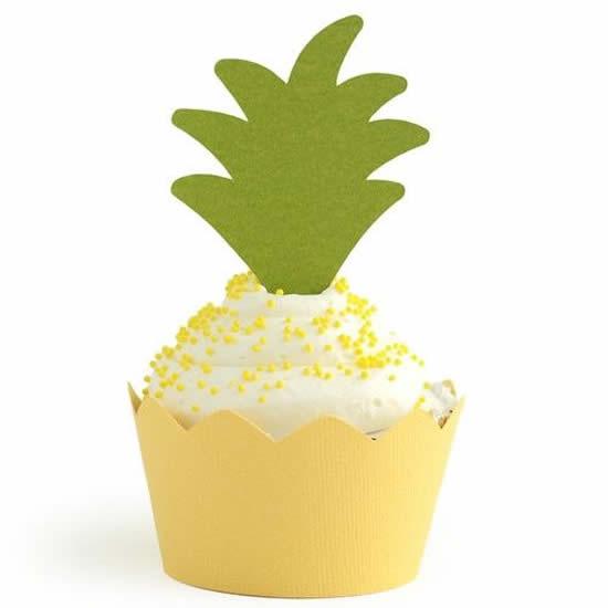 Cupcake de Abacaxi Decorado