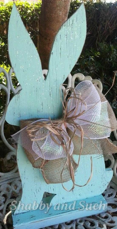 Coelhinho de Madeira para Decoração