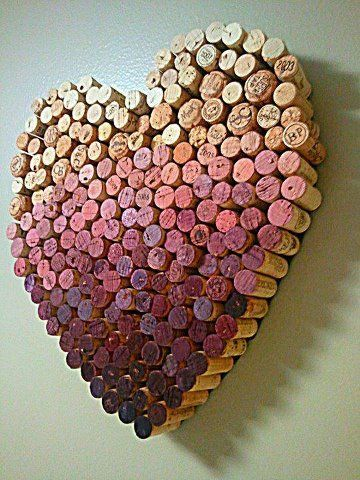 corações de rolhas
