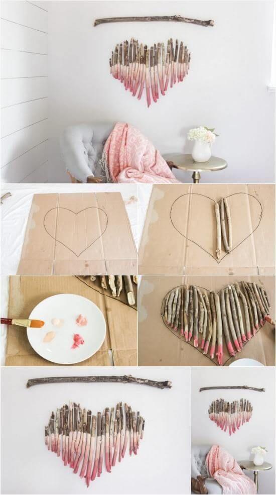 artesanato com gravetos