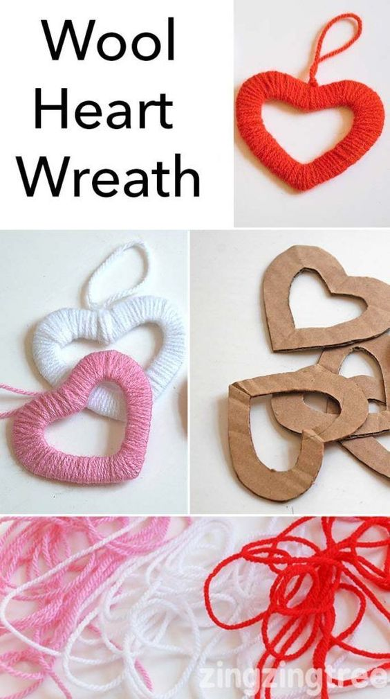 lindo coração de lã
