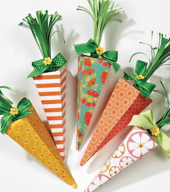 caixinhas em forma de cenoura lembrancinha de páscoa