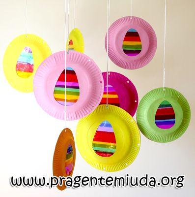 pratos reciclados decorativos