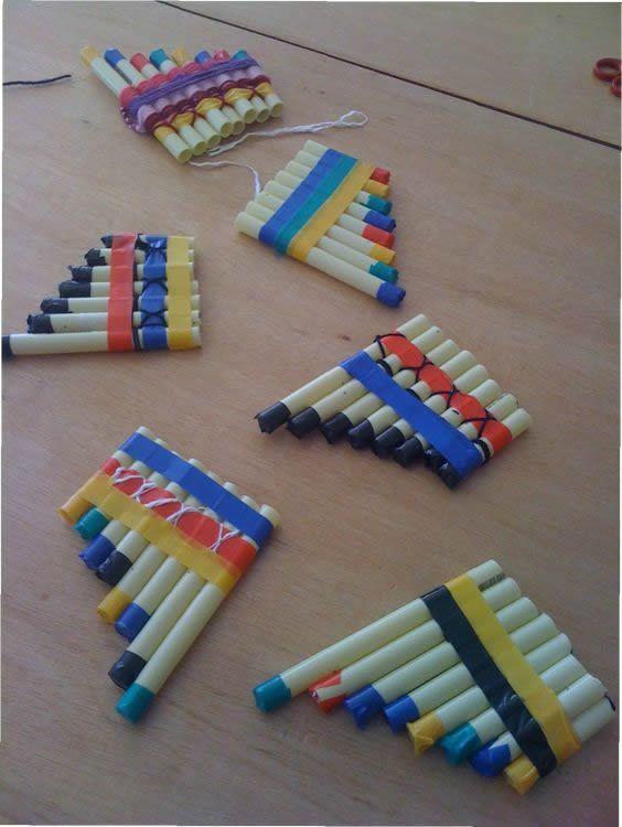 flauta indígena de brinquedo