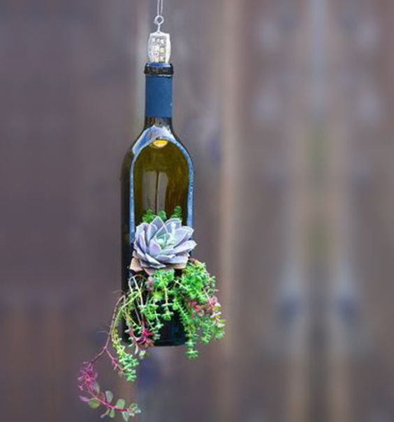 vaso de garrafa de vidro