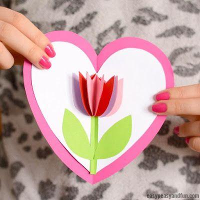 cartão 3d com flores