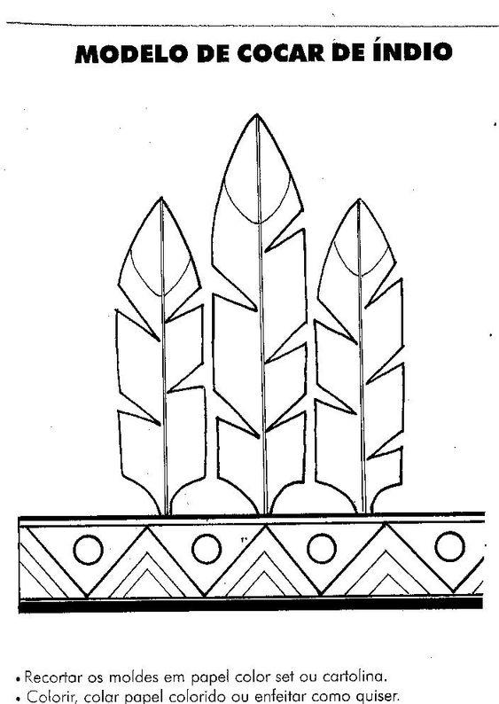 molde de cocar de penas
