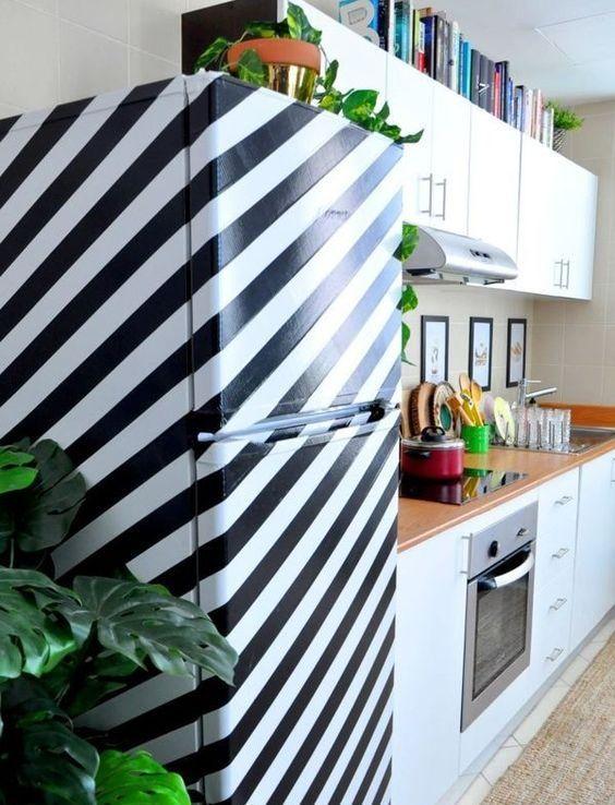 adesivo criativo para geladeira