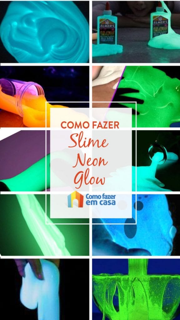 Como fazer slime neon