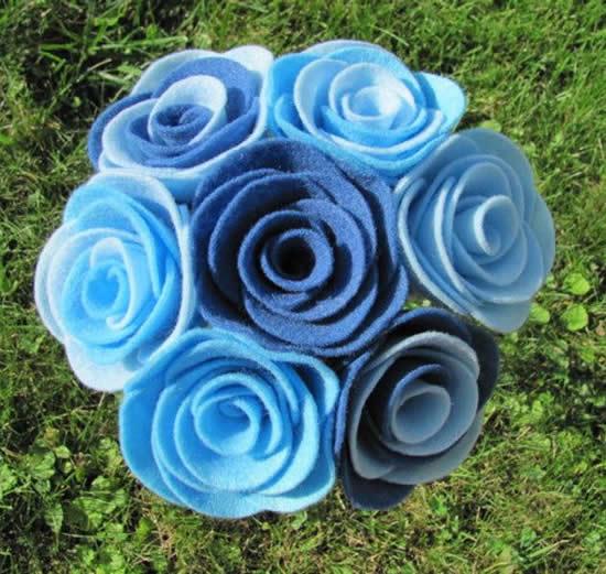 Flores de Feltro para o Dia das Mães