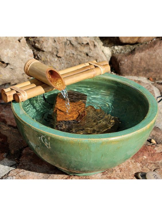 como fazer fonte de bambu