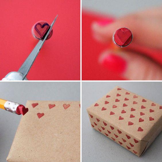carimbo para papel kraft