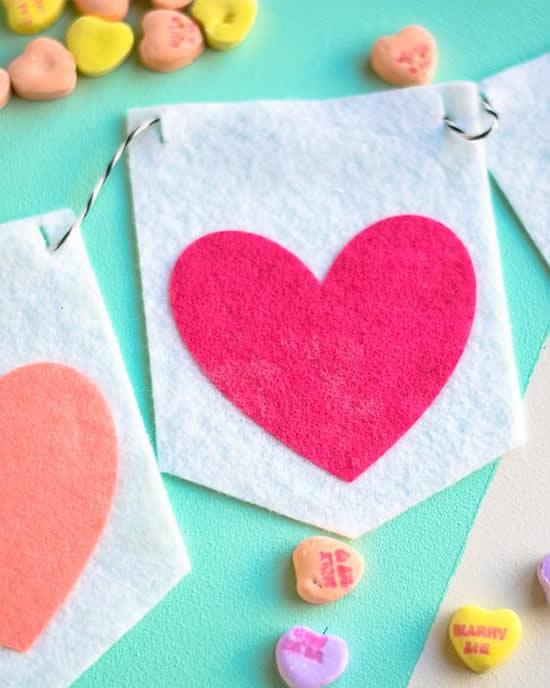 Artigos em Feltro para o Dia dos Namorados