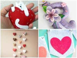 Decoração em Feltro para Dia dos Namorados