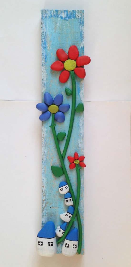 Flores com Seixos