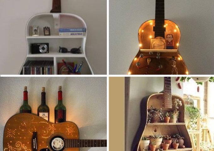 Decoração com violões