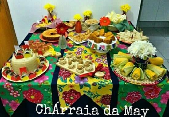 Enfeites para Festa Junina com Tecido Chita
