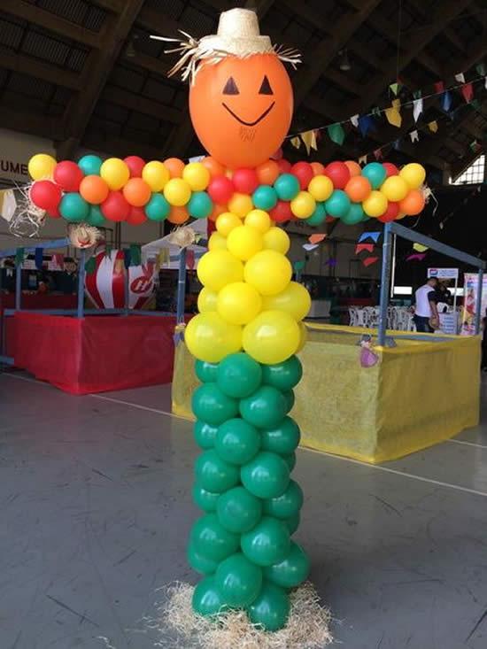Decoração com Bolas de Festa para São João