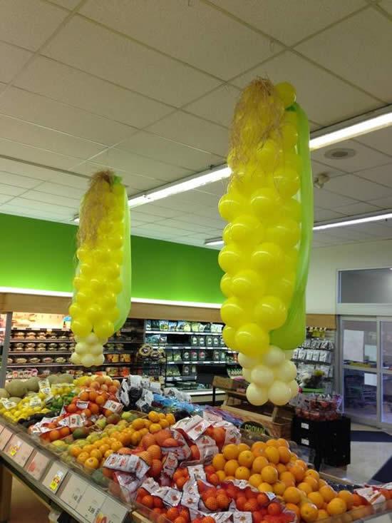 Decoração com Balões para Festa Junina