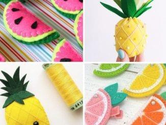 frutas em feltro