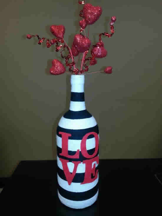 Decoração de Dia dos Namorados com Garrafas