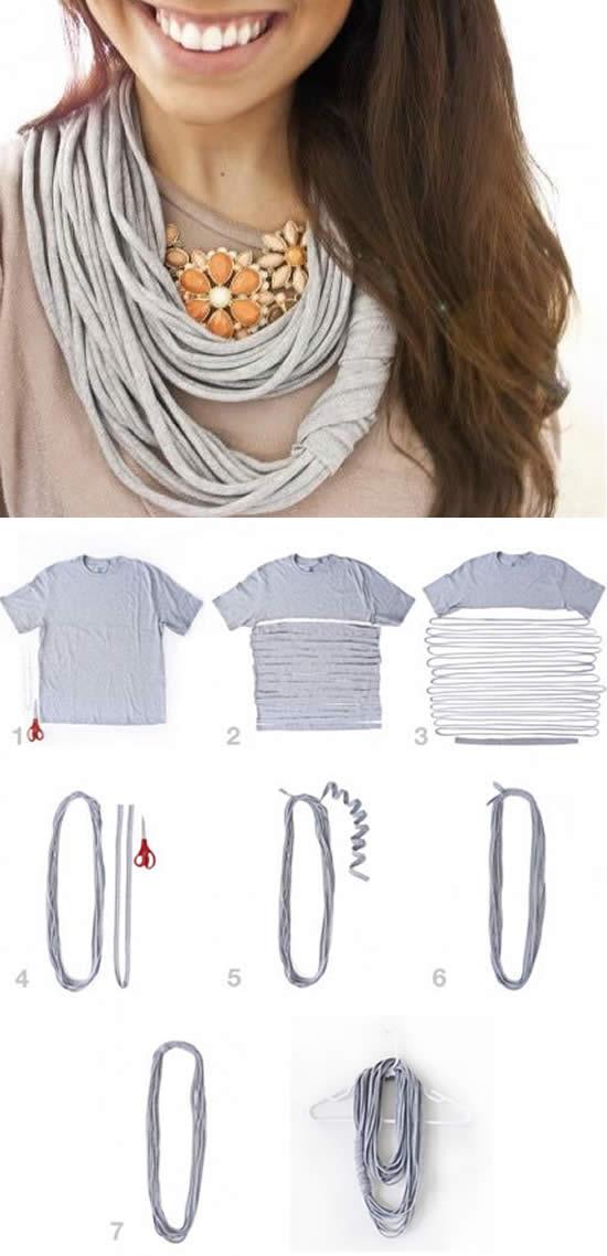 Como customizar com retalhos de tecido de camisetas
