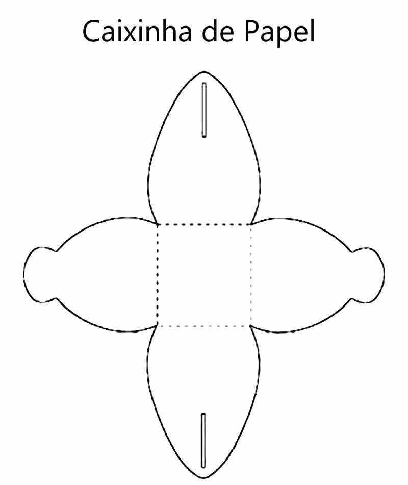 Caixinha com Moldes para Imprimir