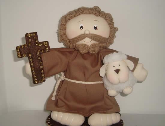 Santinhos com Tecido para São João