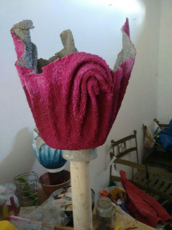 dobras no tecido da toalha