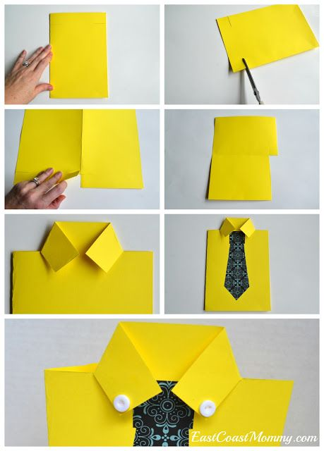 exemplo de artesanato com molde de gravata para dia dos pais