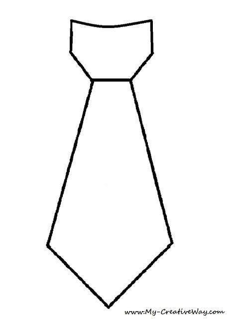 molde de gravata para dia dos pais
