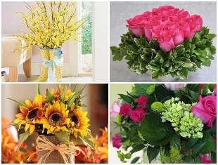 Arranjos de flores lindos e muito criativos
