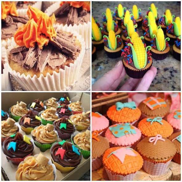 20 inspirações de Cupcakes para Festa Junina
