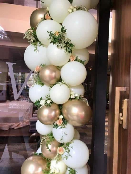 Decoração com bolas de festa
